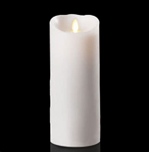 moving flame white unscented candle battery operated 3 5 x
