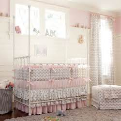Gray And Pink Crib Bedding Set Giveaway Carousel Designs Crib Bedding Set