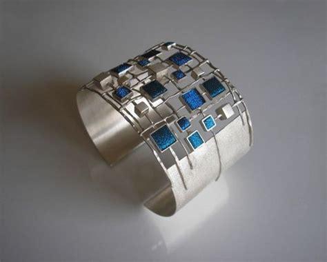 Silver Bracelets 930 partly openwork oval bracelet made of silver 930 square
