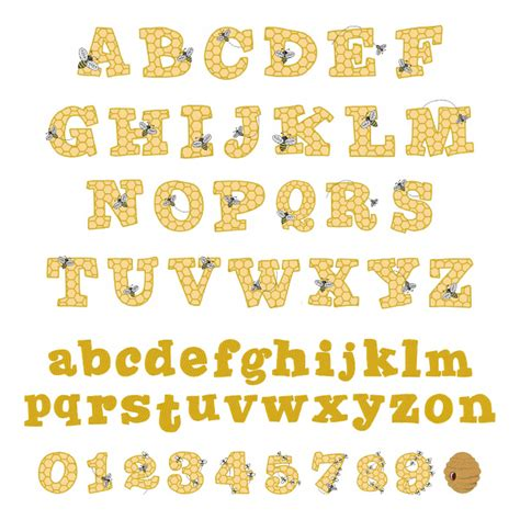 Honeycomb Pattern Font | honeycomb font embroidery font annthegran