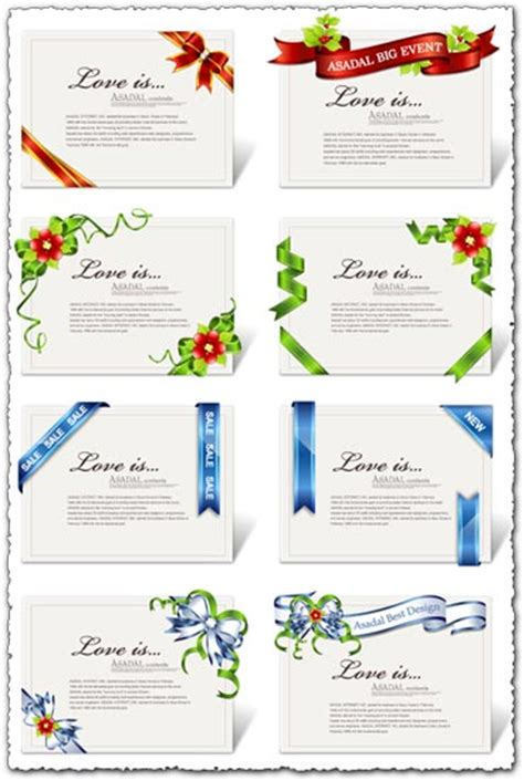 ribbon design for invitation card ribbons design on cards or invitations vector