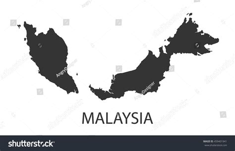 malaysia vector map malaysia map icon vector illustration stock vector