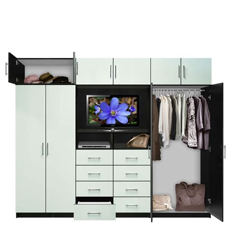Large Wardrobe Wall Unit Aventa Tv Wall Unit X 10 Door Wall Unit For