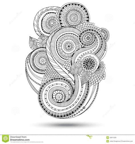 doodle version free henna paisley mehndi doodles design element stock vector