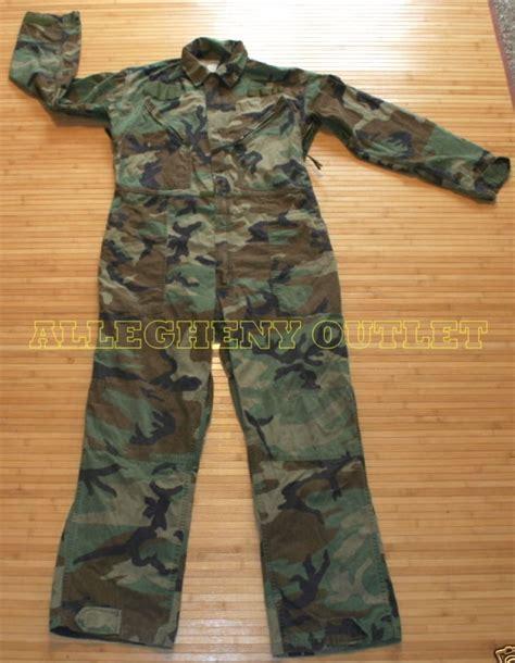 us navy s mechanic jumpsuit usgi army woodland camo utility mechanics
