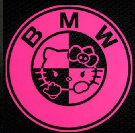 Bmw Pink Sticker by Hello Bmw Die Cut Vinyl Sticker Decal Blasted Rat