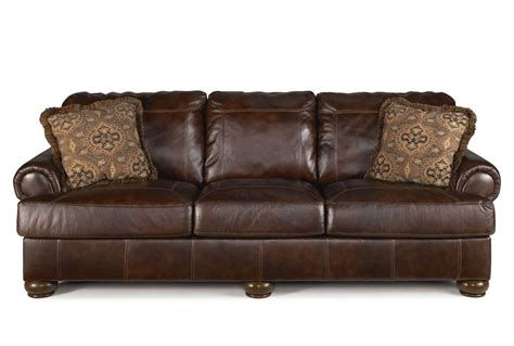Leather Sofa by Brown Leather Sofa With Traditional Design Plushemisphere