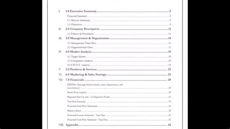 business plan table of contents coffee shop business plan exle table of contents