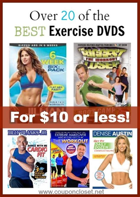 20 of the best exercise dvds for 10 or less