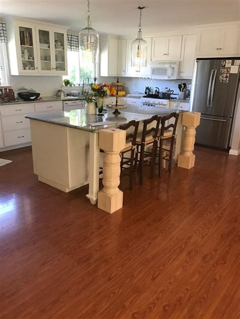 Kitchen Island With Legs by Kitchen Island Leg Size