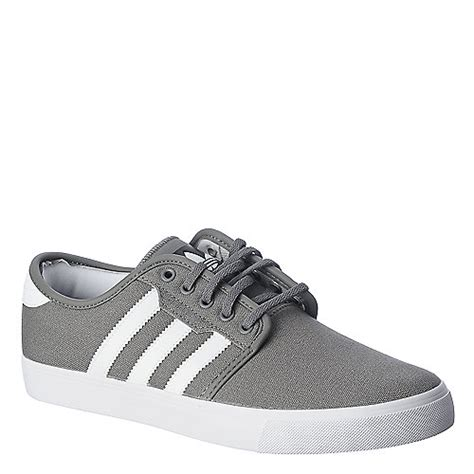adidas seeley grey and white lifestyle skate sneaker