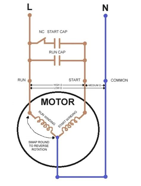 ac wiring diagram dayton reversible motor single phase