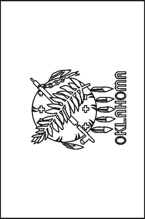 oklahoma state flag coloring pages usa for kids