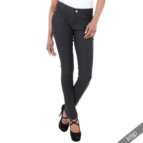 Tcq Fashion Streetch Jegging Soft Ripped Basic womens ripped light stretch denim slim fit trousers size 6 16