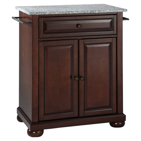 alexandria kitchen island alexandria solid granite top portable kitchen island vintage mahogany dcg stores