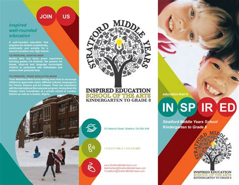 leaflet design ideas for school tri fold event brochure design smys tri fold brochure