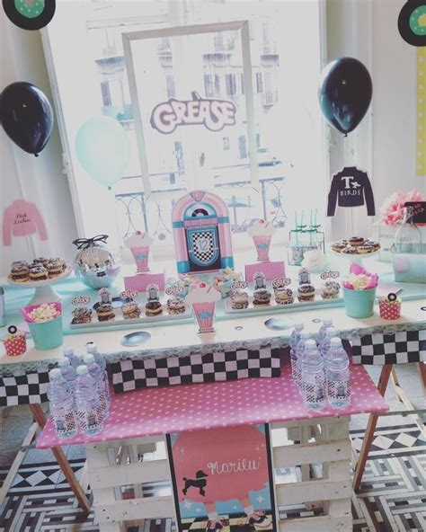 party themes grease grease birthday party grease birthday party pinterest
