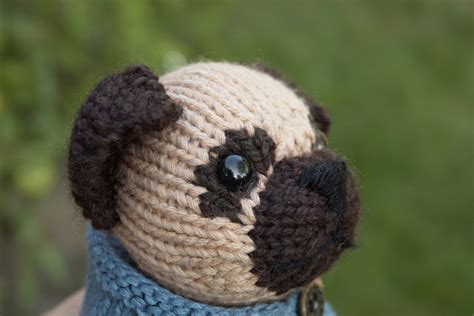 pug knitting pattern fuzzy thoughts pug nose tutorial