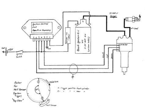 wiring diagram for electronic distributor bosch electronic ignition wiring diagram 40 wiring