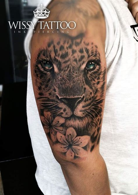 leopard rose tattoo 25 best tiger sleeve ideas on sleeve