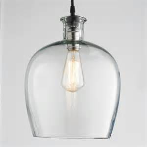 pendant glass light large carafe glass pendant light pendant lighting by