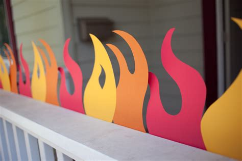 How To Make Flames Out Of Construction Paper - truck birthday printable flames and templates