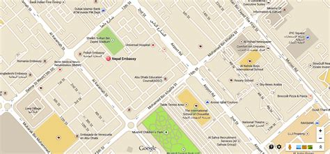 road map us embassy abu dhabi new location map of nepal embassy in abu dhabi the