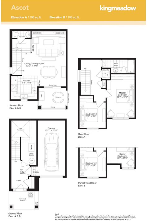 floor plan for new homes the ascot at kingmeadow in oshawa by the minto group 2018