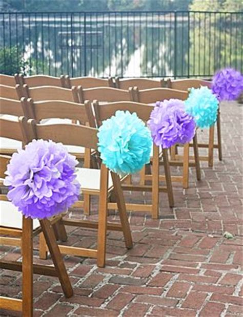 Wedding Aisle Decorations On A Budget by Pom Poms For Wedding Aisle Decor I Only Need Pink And