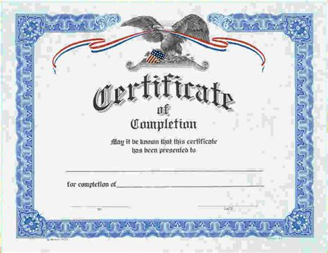 free printable certificate of completion template 7 free printable certificates of completion pay stub