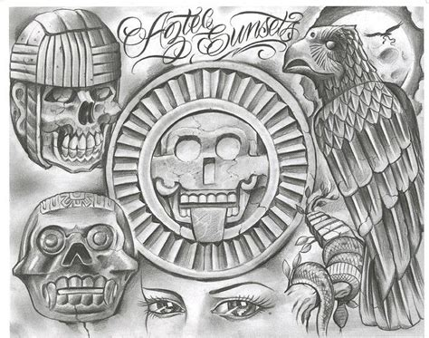 white pride tattoo designs chicano designs tattoovoorbeeld aztec