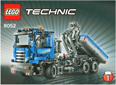 technic truck container truck instructions 8052 technic