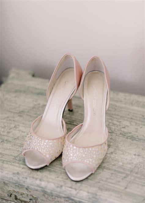 Blush Wedding Shoes by Blush Peep Toe Bridal Shoes Elizabeth Designs The