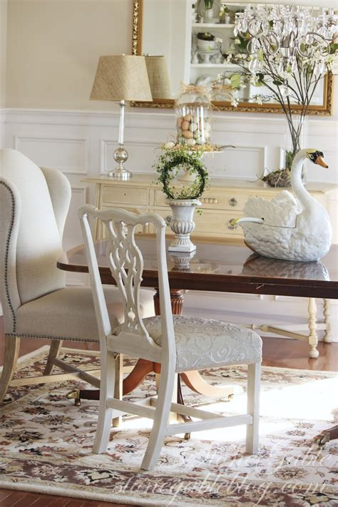 painted  reupholstered dining room chair stonegable