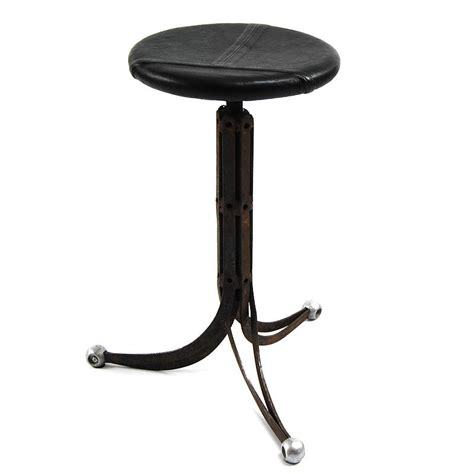 Upcycled Stool by Upcycled Steel And Leather Stool By Tilt Originals