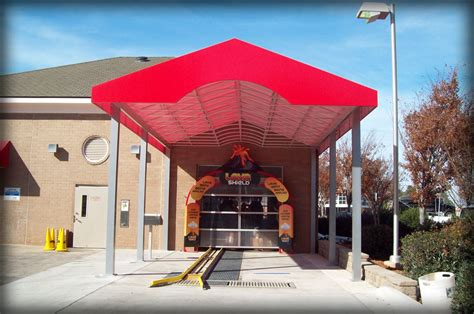 car wash awnings dac architectural car wash awnings and canopies