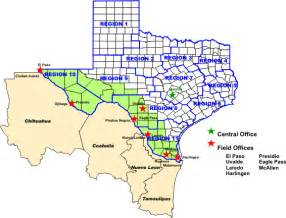 Texas Mexico Map by Office Of Border Health Map Of Dshs Border Area