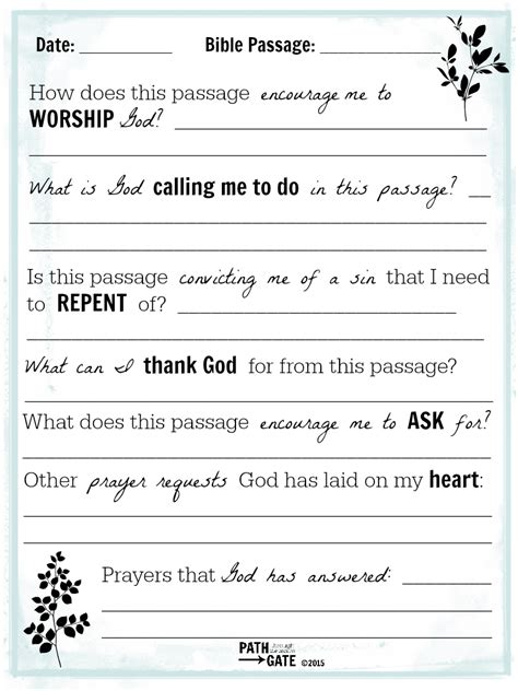 Is Bible Reading Just A Check On Your To Do List Path Through The Narrow Gate Writing A Prayer Template