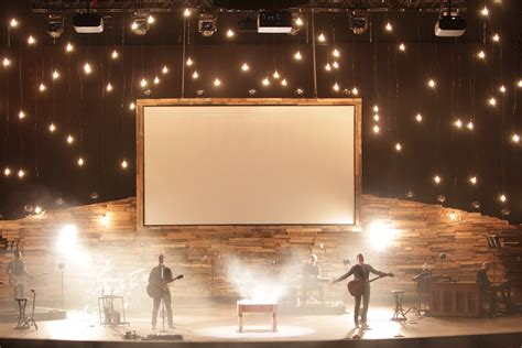 stage lighting design mountains and stars church stage design ideas
