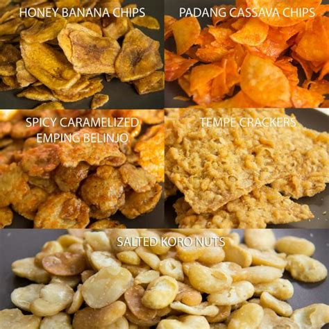 emping belinjosalted nutscassava chipstempeh crackers