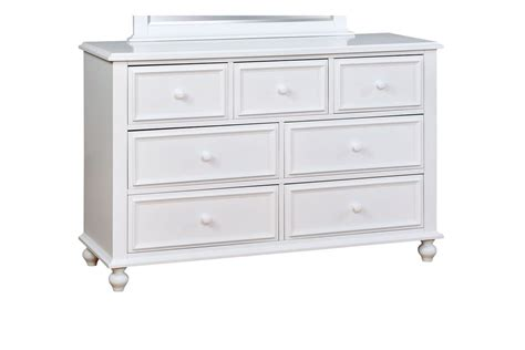 7 Drawer Dresser White by Bastia Traditional 7 Drawer Youth Dresser In White