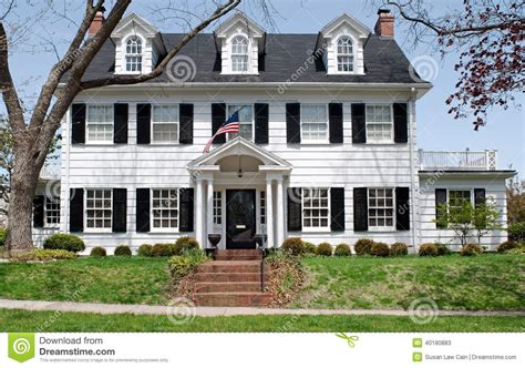 Two Story Colonial House Plans georgian colonal house stock photo image 40180883