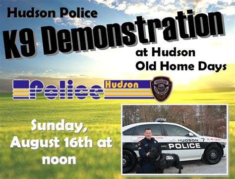 hudson nh home days hudson k9 demonstration