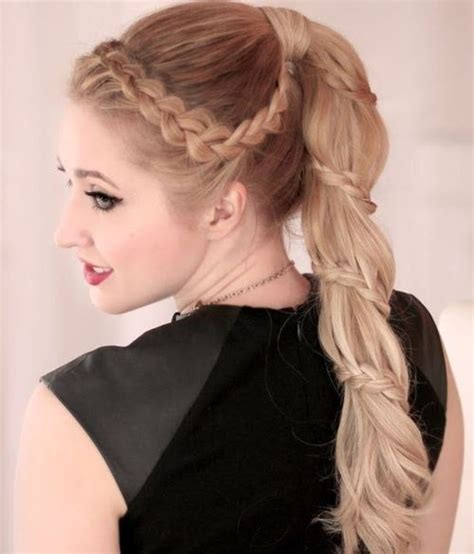 Ponytail Hairstyles by 18 Braided Ponytail Styles Popular Haircuts