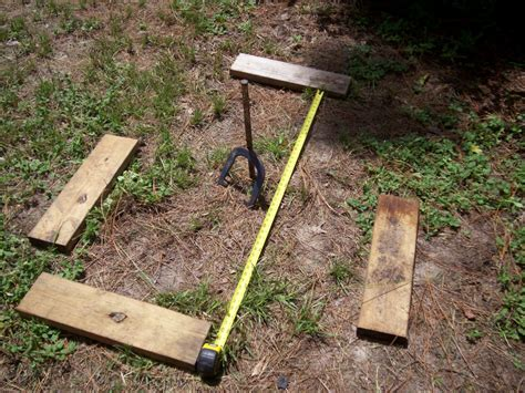 diy pit size how to build a horseshoe pit