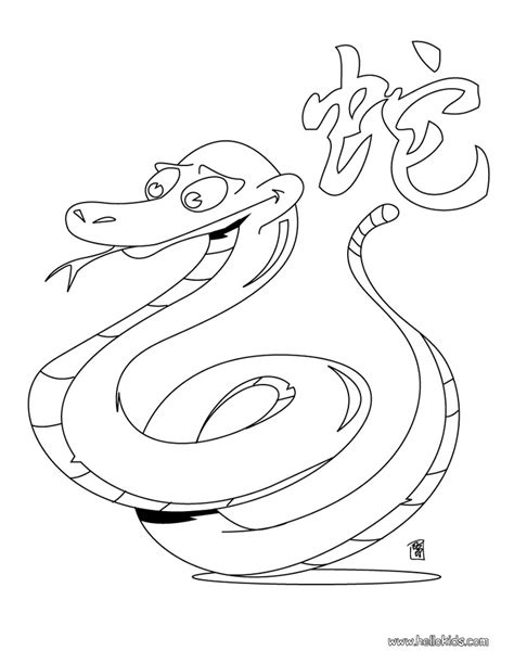 new year zodiac coloring astrology snake coloring page lunar new year