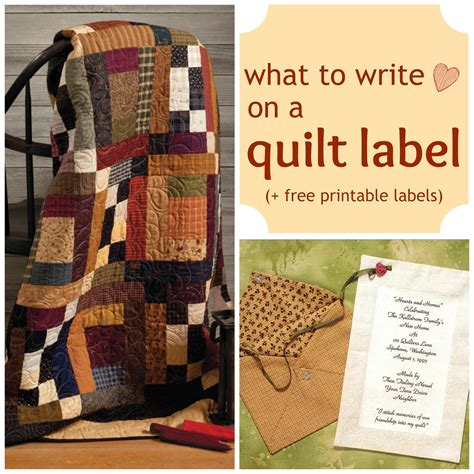 printable quilt labels what to write on a quilt label free printable labels