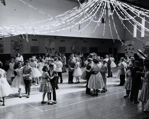 vintage dance party 1950s teenagers 1950s prom schools dance high schools