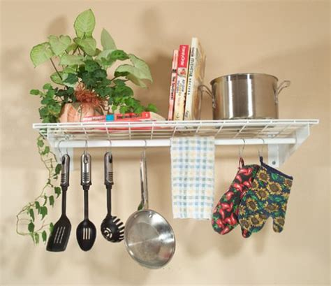 Wall Shelf With Hanging Rod by Hyloft 777 36 By 18 Inch Wall Shelf With Hanging Rod 2