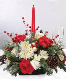 holiday centerpiece single candle holiday flowers